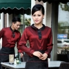 waitress wine shirt + black apron